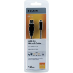 Belkin F3U151CP1.8M 1.8m USB A Micro-USB B Male Male Black USB cable