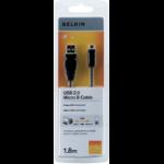 Belkin F3U151CP1.8M USB cable 1.8 m USB A Micro-USB B Male Black