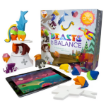 Beasts of Balance digital tabletop hybrid stacking family game, ages 6+. Build towers and stack magical artefacts. Free app for iOs, Android 25 PCS