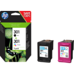 HP N9J72AE (301) Printhead cartridge multi pack, 190pg + 165pg, Pack qty 2