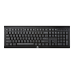 HP K2500 keyboard RF Wireless QWERTY Black
