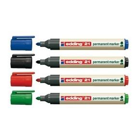 Edding EcoLine 21 permanent marker Red 10 pc(s)