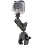 RAM Mounts Tough-Claw Double Ball Mount with Universal Action Camera Adapter