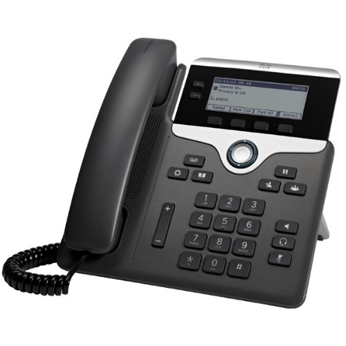 Cisco 7821 IP phone Black, Silver Wired handset 2 lines