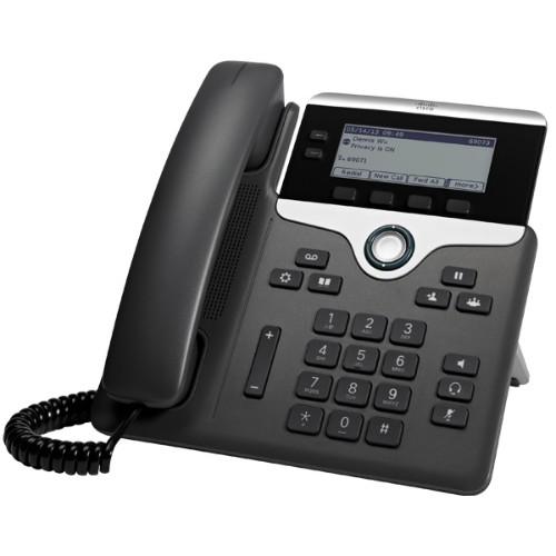 Cisco 7821 IP phone Black,Silver Wired handset 2 lines
