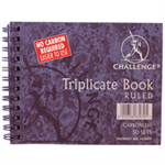 Challenge Triplicate Book Carbonless Wirebound Ruled 50 Sets 105x130mm Ref 100080472 [Pack 5]