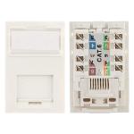 Cablenet Cat6 UTP Module LJ6C White