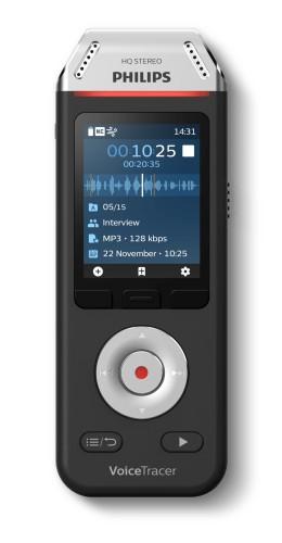 Philips Voice Tracer DVT2110/00 dictaphone Flash card Black, Chrome