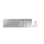 CHERRY DW 9000 SLIM keyboard RF Wireless + Bluetooth AZERTY French Silver,White