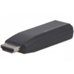 EXC 051247 cable gender changer HDMI HD-15 + 3.5mm Black
