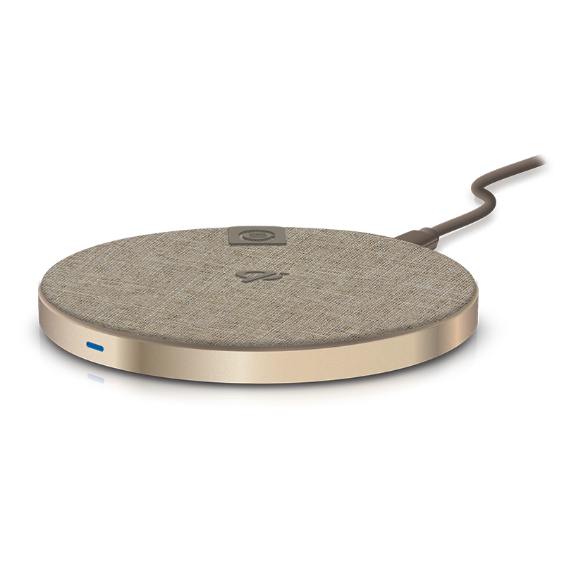 Wireless Charging Pad - Champagne Gold - 10W - Includes USB-C to USB-C Cable