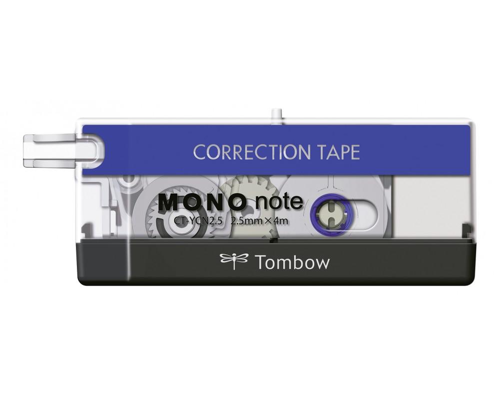 Tombow Correction tape MONO note 2.5mmX4m BK/WT/BL PK1