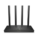 TP-LINK ARCHER C6 V3.20 wireless router Gigabit Ethernet Dual-band (2.4 GHz / 5 GHz) Black
