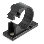 StarTech.com 100 Adhesive Cable Management Clips Black - Network/Ethernet/Office Desk/Computer Cord Organizer - Sticky Cable/Wire Holders - Nylon Self Adhesive Clamp UL/94V-2 Fire Rated CBMCC3