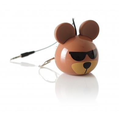 KitSound KSNMBBEAR Mono portable speaker 2W Brown