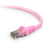 "Belkin CAT6 Snagless networking cable 179.9"" (4.57 m) Pink"