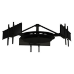 "Peerless DST980-3 80"" Black flat panel ceiling mount"