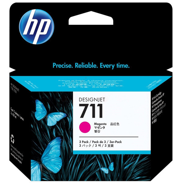 HP CZ135A (711) Ink cartridge magenta, 29ml, Pack qty 3