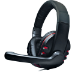 Dynamode Nemesis MX-878 Surround Sound USB Headphone with Microphone, Black/Red (MX-878)