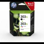 HP 3YN10AE (303XL) Printhead cartridge multi pack, 10ml + 12ml, Pack qty 2