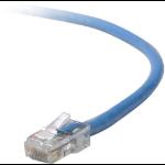 "Belkin Cat5e, 1ft, 1 x RJ-45, 1 x RJ-45, Blue networking cable 11.8"" (0.3 m)"