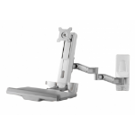 """Amer AMR1WSL monitor mount / stand 61 cm (24"""") Grey"""