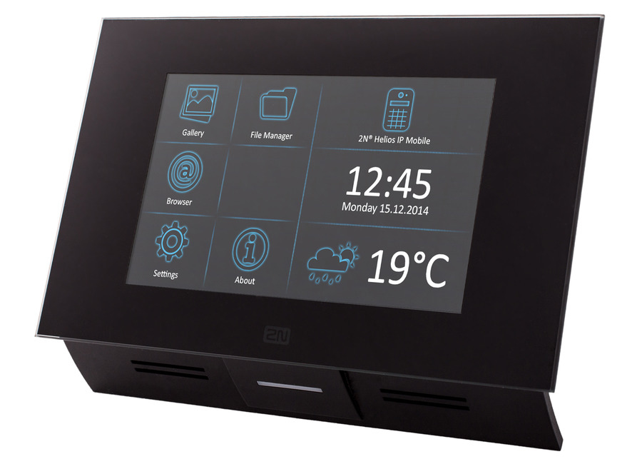 "2N Telecommunications Indoor Touch video intercom system 17.8 cm (7"") Black"