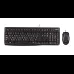 Logitech MK120 keyboard USB UK English Black