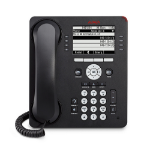 Avaya 9608 Black Wired handset 8lines IP phone
