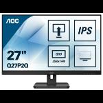 """AOC Q27P2Q LED display 68.6 cm (27"""") 2560 x 1440 pixels Quad HD Black"""