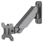 "Manhattan Monitor/TV Wall Mount (height adjustable swivel arm), 1 screen, 17-32"", Vesa 75x75 to 100x100mm, Max 8kg, Black, Box"