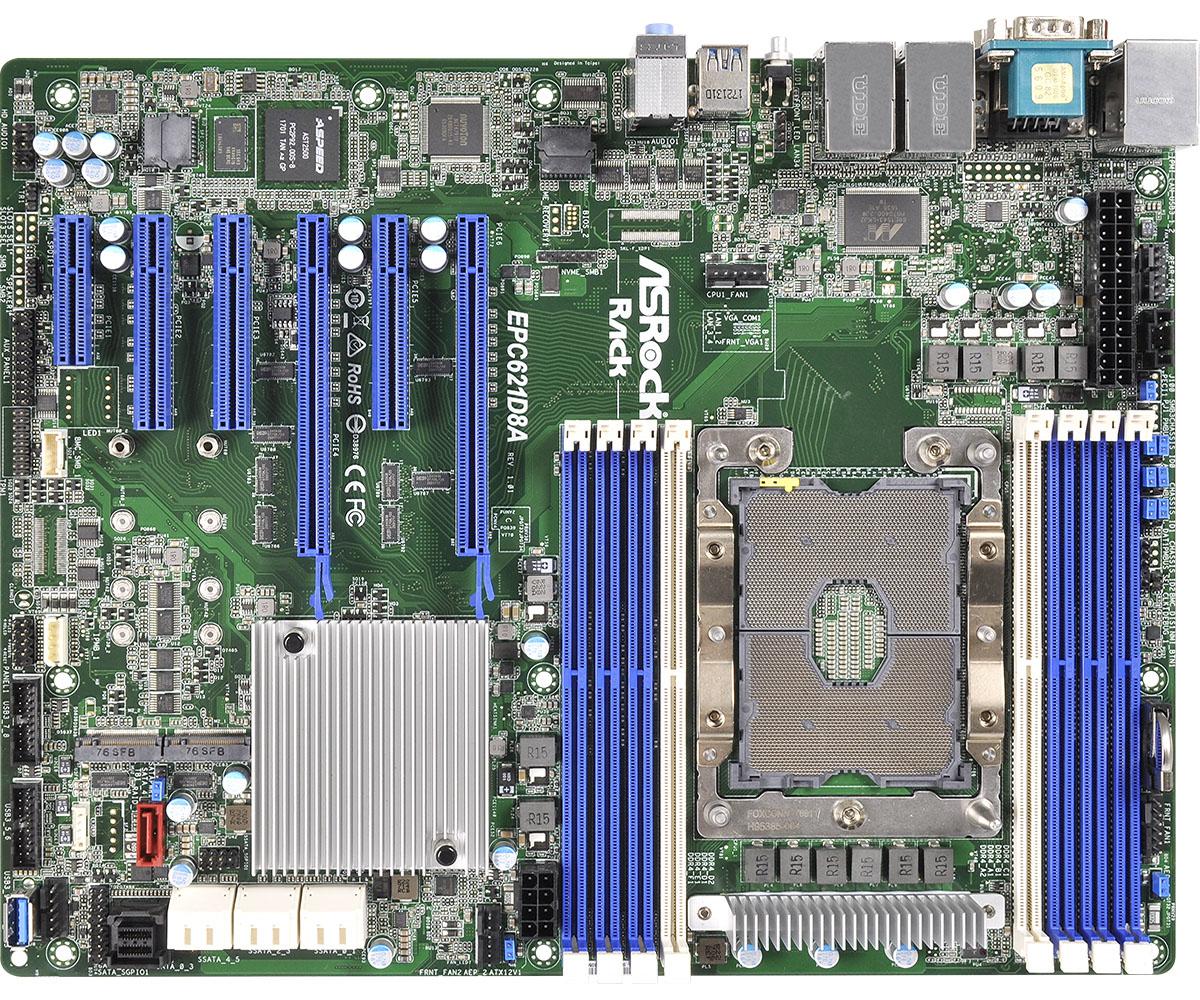 Asrock EPC621D8A server/workstation motherboard LGA 3647 (Socket P) ATX Intel C621