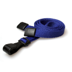 Digital ID 10mm Navy Blue Lanyards with Breakaway and Plastic J Clip - Pack of 100