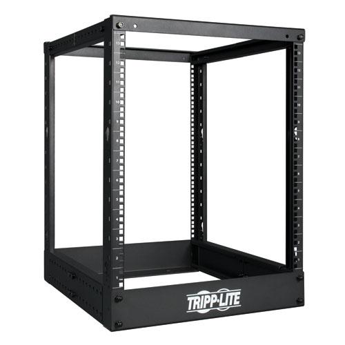 Tripp Lite 13U 4 Post Open Frame Server Rack, Adjustable Mounting Depth