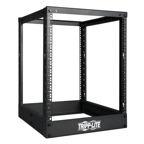 Tripp Lite 13U 4 Post Open Frame Server Rack, Adjustable Mounting Depth rack