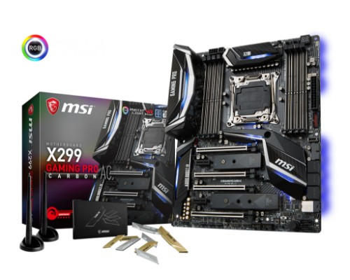 MSI X299 GAMING PRO CARBON AC LGA 2066 Intel® X299 ATX