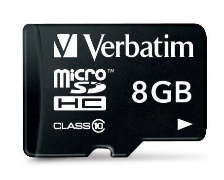 Verbatim 8GB microSDHC 8GB MicroSDHC Class 10 memory card