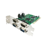 StarTech.com 4 Port PCI RS232 Serial Adapter Card with 16550 UART interface cards/adapter