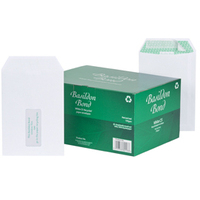 Basildon Envelopes Pocket Peel and Seal Window 120gsm White C5 [Pack 500]