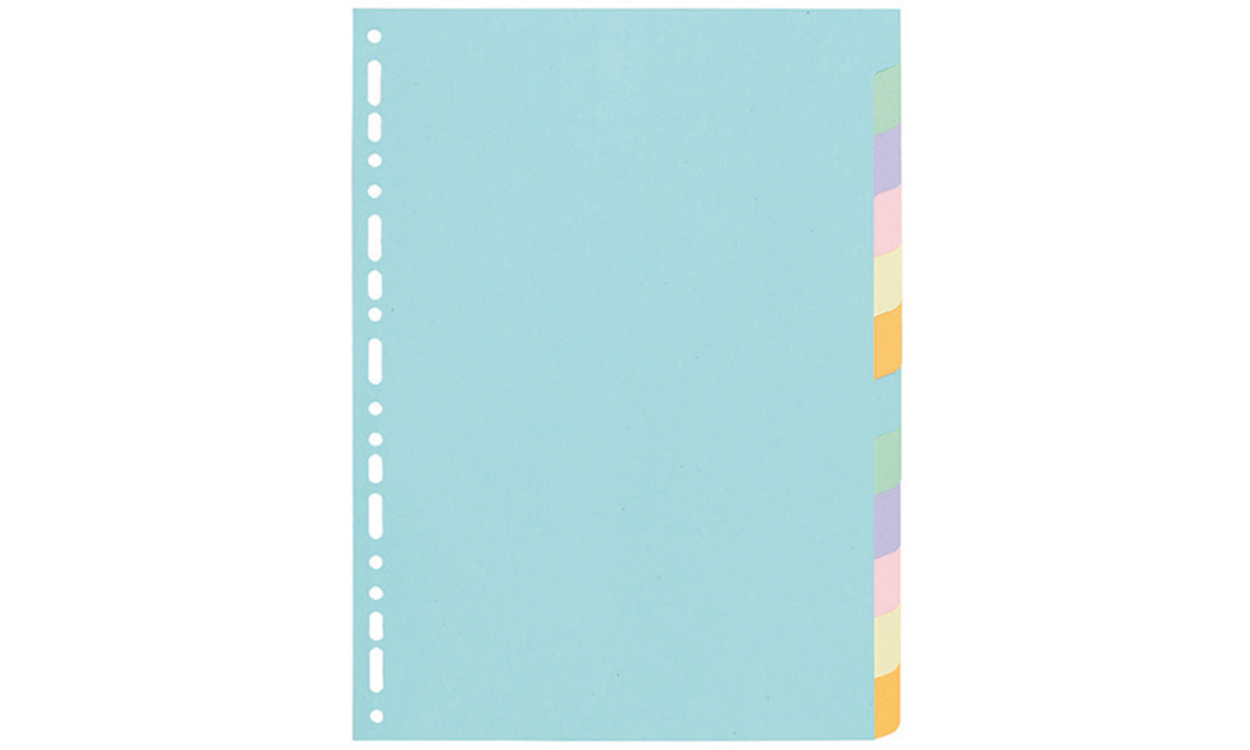 Exacompta 1612E divider Cardboard Multicolour 12 pc(s)