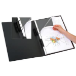 MARBIG REFILLABLE DISPLAY BOOK PORTRAIT A3 20 POCKET BLACK