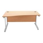 Arista Oak 1600mm Wave Desk Right Hand KF838643