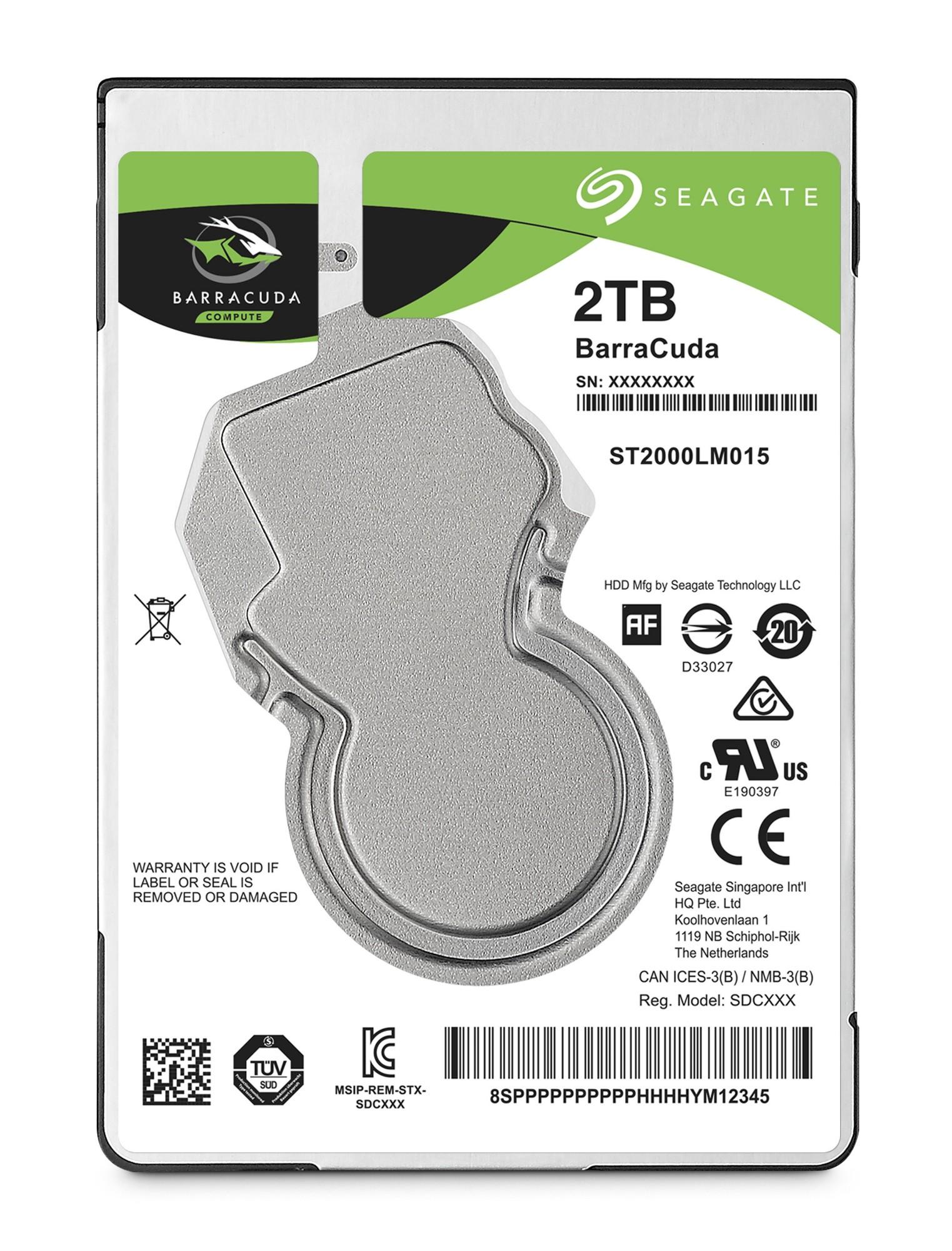 "Seagate Barracuda 2.5"" 2.5"" 2000 GB Serial ATA III"