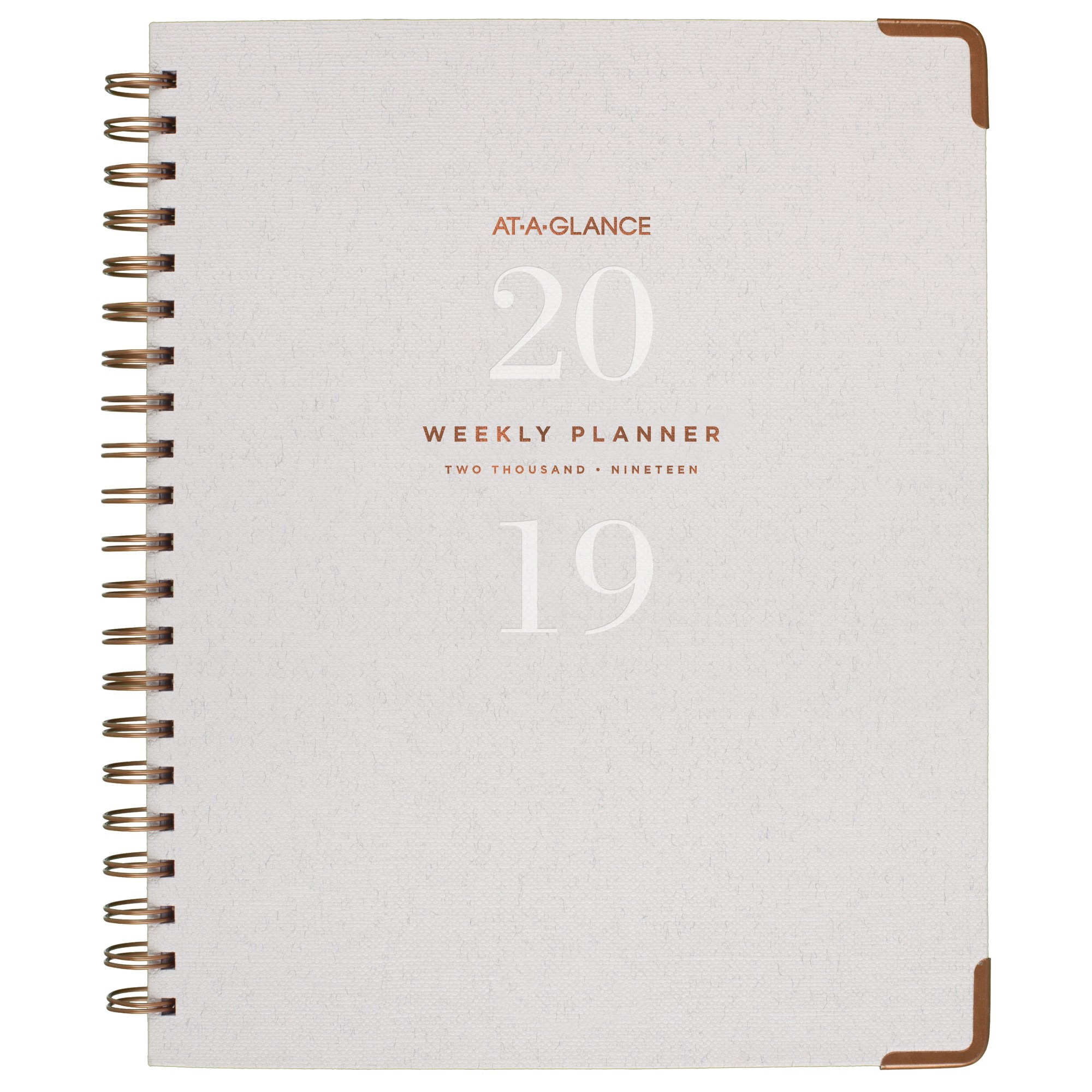 AT-A-GLANCE PLANNER WEEKLY/MONTHLY 2019 AT-A-GLANCE SIGNATURE A4 LINEN GREY ( EACH )