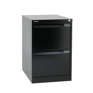 Bisley BS2E Filing Cabinet 2-Drawer H711mm Black Ref BS2E-33