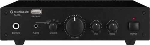 Monacor SA-100 audio amplifier 2.0 channels Performance/stage Black