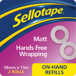 Sellotape On Hand Inv Refill Pk2 2379006