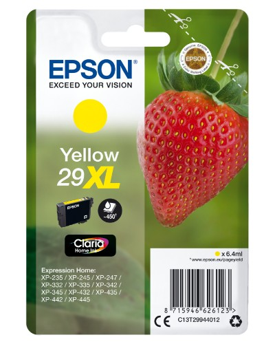 Epson C13T29944012 (29XL) Ink cartridge yellow, 450 pages, 6ml
