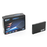 "CIT 2.5"" USB 3.0 Aluminium SATA HDD Enclosure Black U23YAB"
