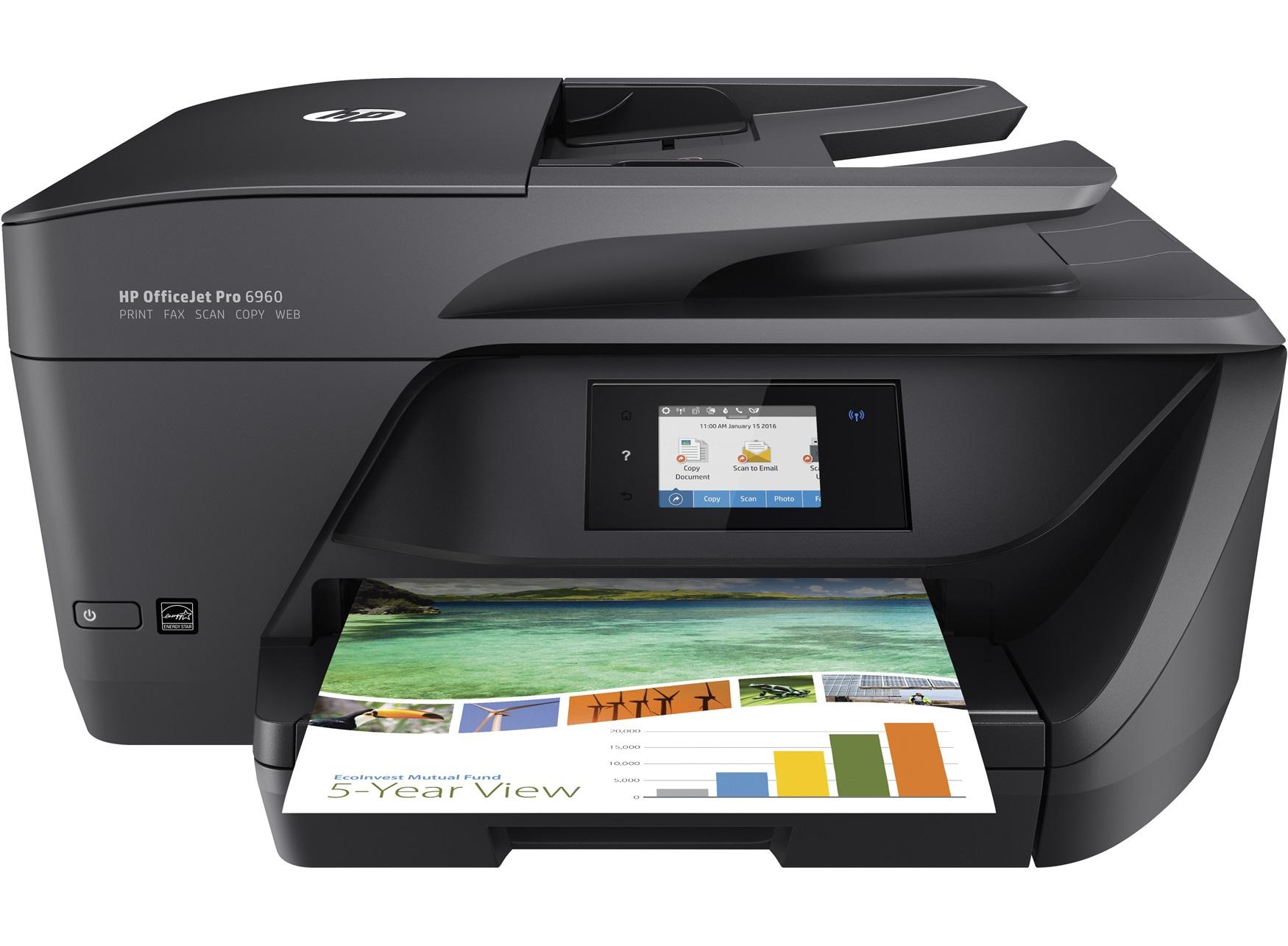 HP OfficeJet Pro 6960 Inkjet 18 ppm 600 x 1200 DPI A4 Wi-Fi